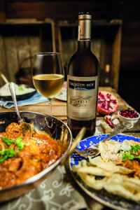 Cape Malay chicken curry with Drostdy-Hof Adelpracht 4 LR